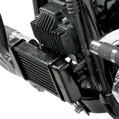 Horizontal Low Mount 10-Row Oil Cooler Black 750-2500 For 91-17 Harley Dyna • 292.54£