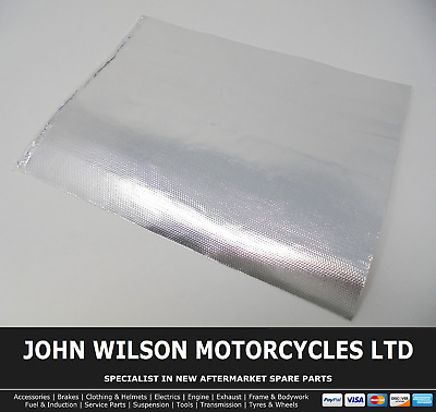 Motorcycle Engine Exhaust Heat Shield 500°c Race Track 25 X 33 Cm Self Adhesive • 11.99£