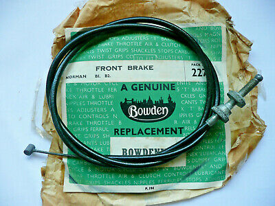 Norman B1 B2 Front Brake Cable Genuine Bowden New Old Stock, Villiers 2 Stroke • 9.95£