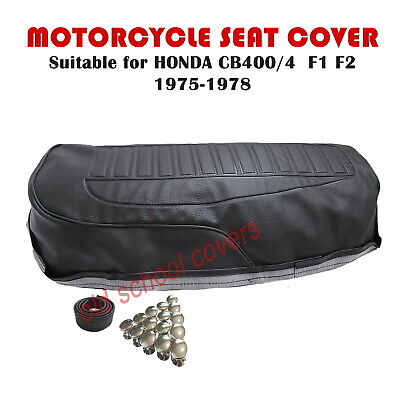 MOTORCYCLE SEAT COVER Will Fit  CB400/4 CB400 FOUR 1975-78 & STRAP & STUDS • 49.99£