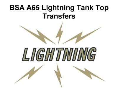BSA A65 Lightning Tank Top Transfer Decal Classic Motorcycle D50078 A65L • 7.99£