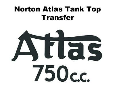 Norton Atlas 750 Tank Top Transfer Decal Classic Motorcycle D50175 • 6.99£