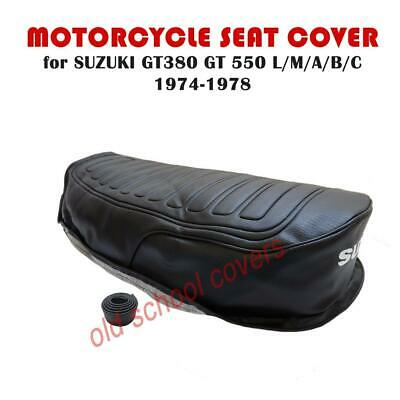 Motorcycle Seat Cover Suzuki Gt380 Gt550 L M A B C 1974-78  With Strap • 49.99£