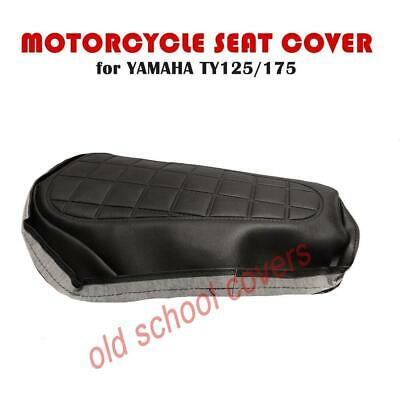MOTORCYCLE SEAT COVER Fits TY125 TY175 SINGLE SEAT MODELS IN BLACK • 49.99£