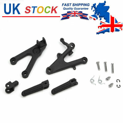 Motorcycle Footrest Assembly Holder With Foot Pegs For Yamaha YZF-R6 2003-2010 • 32.19£
