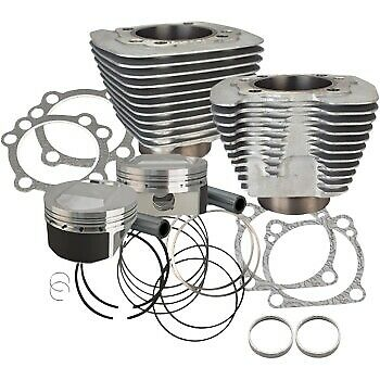 S&S 1250CC Silver Cylinder Coversion Kit 5.5CC Dome Top 11:2:1 Harley XL 86-20 • 564.14£
