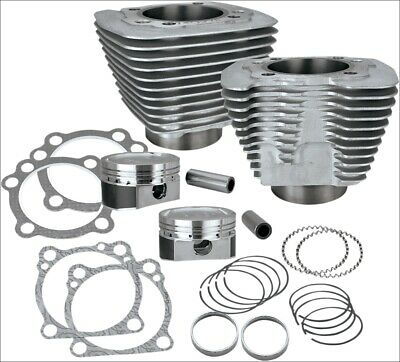 S&S Cycle XL 883 To 1200 Silver Big Bore Coversion Kit Harley Sportster 86-15 • 564.14£