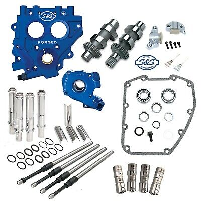 S&S 509C Chain Drive Cam Camchest Kit W/ Pushrods Oil Pump Plate Harley 99-06 • 1,170.32£