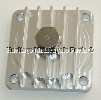 Quality CNC Finned Solid Billet ALLOY Oil SUMP PLATE BSA A7 A10 A50 A65 67-1285 • 44.99£