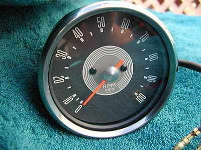 Authentic TACHOMETER Grey Face In Black Casing Classic Motorcycles 4:1 Tacho New • 69.99£