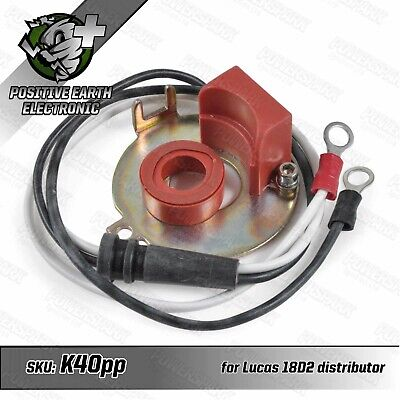 Positive Earth Electronic Ignition Kit For Lucas 18D2 Twin Cylinder Distributor • 44.95£