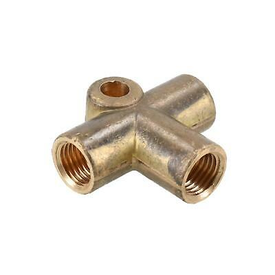 Brass Brake Pipe Fitting 3 Way Adaptor 7/16  UNF X 20 TPI For 1/4  Pipe T Piece • 12.25£