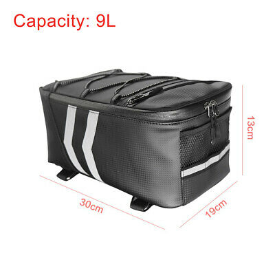 Waterproof Motorcycle Bicycle Rear Tail Bag Back Seat Bag Scooter Tool Pack 9L • 15.89£