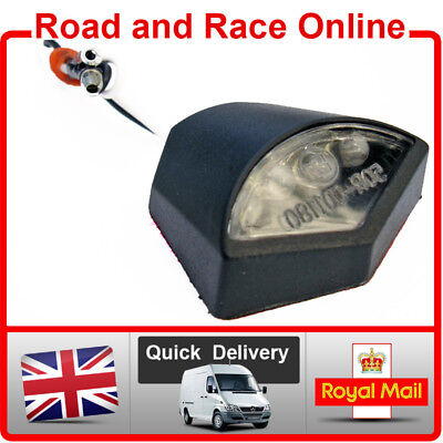 Motorcycle Number Plate LIGHT Small 12v LED Black Self Adhesive Light • 4.99£
