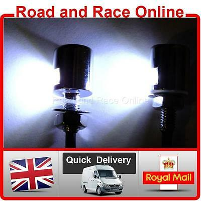 Small Black 12v LED Number Plate Lights Universal Fitting Suit Most Motorcycles • 9.99£