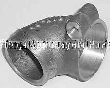 Authentic ALLOY AIR FILTER ELBOW Connector JOINT For BSA M20 Pt No 65-9198 New • 19.99£