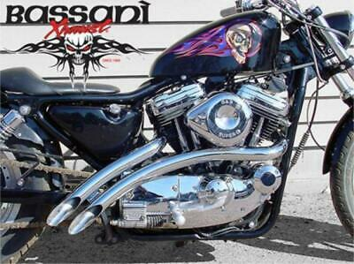 Chrome Bassani 2  Radial Sweepers Exhaust Pipes 1986-2003 Harley Sportster XL • 363.81£