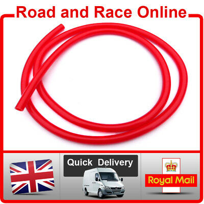 Motorcycle Fuel Line Petrol Pipe 5mm I/D X 8mm O/D 1m Length Red Fuel Hose • 3.99£