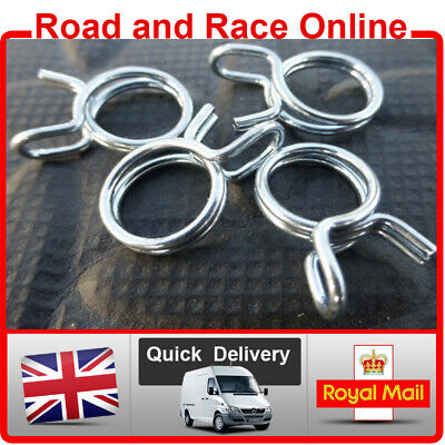 8mm Fuel Line Petrol Pipe Clips / Clamps Spring Wire Type Pack Of 4 Suit Honda • 2.25£