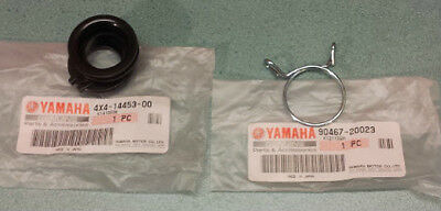 Pw50 Genuine Yamaha Carburetor Intake To Airbox Rubber And Clip 4x4-14453-00 Etc • 22.90£