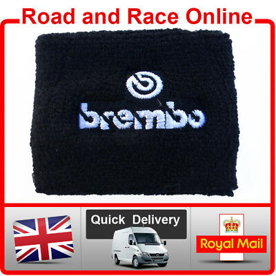 Small BREMBO Rear Brake / Clutch Reservoir Sock Cover Embroidered Cotton W Logo • 5.90£