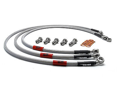 Suzuki SV650 N X-K2 1999-2002 Wezmoto Full Length Race Front Braided Brake Lines • 39.95£