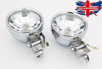 Motorcycle Halogen Clear White Passing Spot Light Fit Custom Modify Universal  • 26.90£