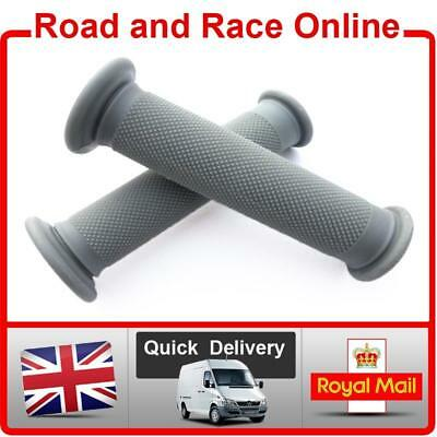 Replacement Motorcycle / Motorbike Handlebar Grips In Grey Open Ended Soft Comp • 6.99£