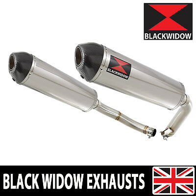 CBF 1000 2006-2011 Twin Exhaust Silencers 400mm Oval Stainless/Carbon Tip 400ST • 324.99£