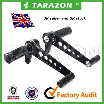 Cafe Racer. Tarazon Universal Rearset Footrests, Anodised BLACK Silver Also  • 63£