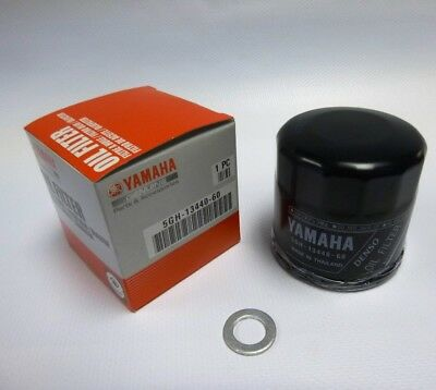 Genuine Yamaha Oil Filter 5GH-13440-60-00 & Sump Washer Most Yamaha's 2006 On • 17.75£