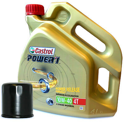 Triumph  675 Street Triple R 2016 Castrol Power 1 Oil And Filter Kit  4 Litres • 34.99£