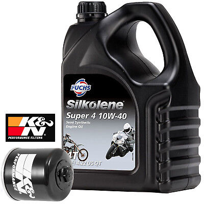 Kawasaki KLZ 1000 Versys 1000 2016 Silkolene Super 4 And K&N Oil Filter 4 Litres • 33.99£