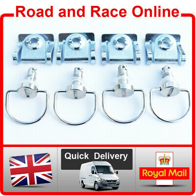 4 Quick Release Dzus Style Fairing Fastener D Ring 17mm Road-Race-Track Day Silv • 9.99£