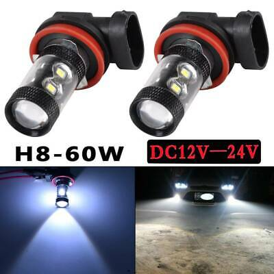 Pair H11/H8 CREE 100W FOG LIGHT LEDS BULBS DRL DRIVING LAMPS BULBS 6000K White • 6.49£