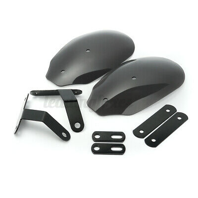 Universal Motorcycle Hand Guard Wind Deflector Protector Shield Cover UK • 19.14£