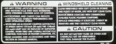 Honda Nc30 Vfr400r Cbr900rr Blade Screen Cleaning Caution Restoration Decal • 10.99£