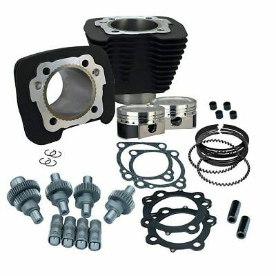 S&S SS Cycle Black Big Bore Hooligan Kit 1250cc Harley Sportster 00-2020 Xl 1200 • 816.79£