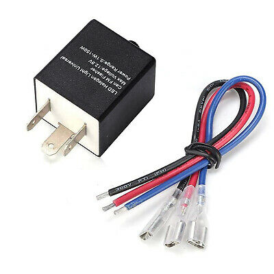 3 Pin Adjustable Electronic LED Flasher Relay For Motorcycle Turn Signal Blinker • 9.39£