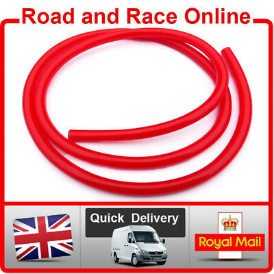 Motorcycle Carb Breather / Overflow / Petrol Pipe 5mm I/D X 8mm O/D 1m Long Red • 3.99£