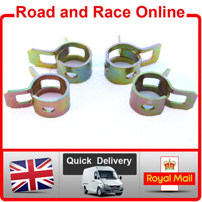 6mm I/D Breather Overflow Pipe Clips Pack Of 4 Suit Many Motorcycles Scooter Etc • 2.45£