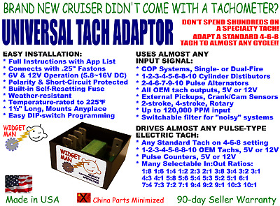 UNIVERSAL TACH ADAPTER / CONVERTER, COP-1-2-3-4-5-6-8-10 Cyl To Any 4-6-8 Tach • 34.78£
