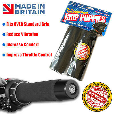 Grip Puppy Puppies Anti Vibration Motorcycle Handle Bar Foam Comfort Over Grips • 12.95£
