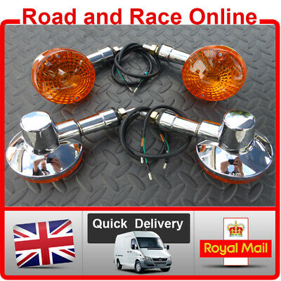 Full Set Of Suzuki GN125 & GN250 Replacement Chrome Indicators Front & Rear X 4 • 27.99£