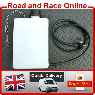 Auxiliary Fuel / Petrol Gas Tank For Motorcycles 1.5Lt Tank + Pipe + Tap + Clips • 23.99£