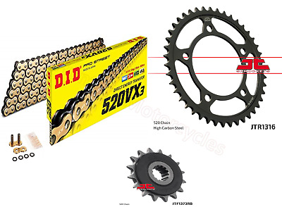 Honda NC750 X DID Gold X-Ring Chain And JT Quiet Sprocket Kit Set 2014 To 2018  • 79.44£