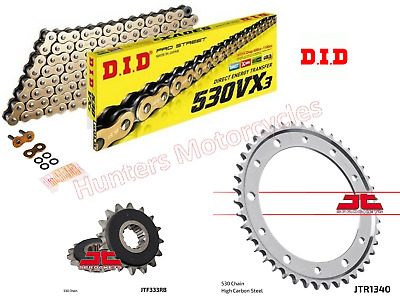 DID Gold XRing Chain & JT Silent Sprocket Kit For Honda CB1000R (2008 To 2016) • 89.92£