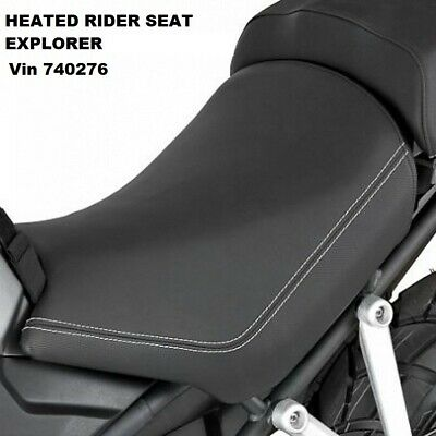 A9708194.GENUINE TRIUMPH HEATED RIDERS SEAT- EXPLORER Vin Up To 740276 . • 85£