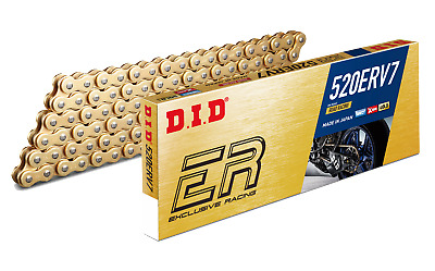 DID 520ERV7 X 108 110 112 114 116 120 Link Gold X-Ring Road Race Chain • 123.92£