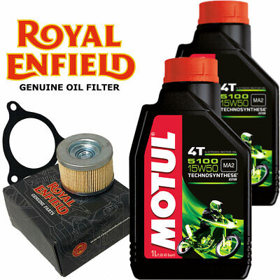 Royal Enfield Himalayan Engine Oil 15w50 And Genuine Oil Filter Kit 2 X 1 Litre • 30.99£